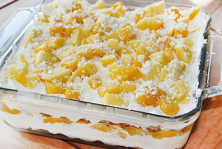 tiramisu met tropische vruchten ananas mango kokos dessert recept