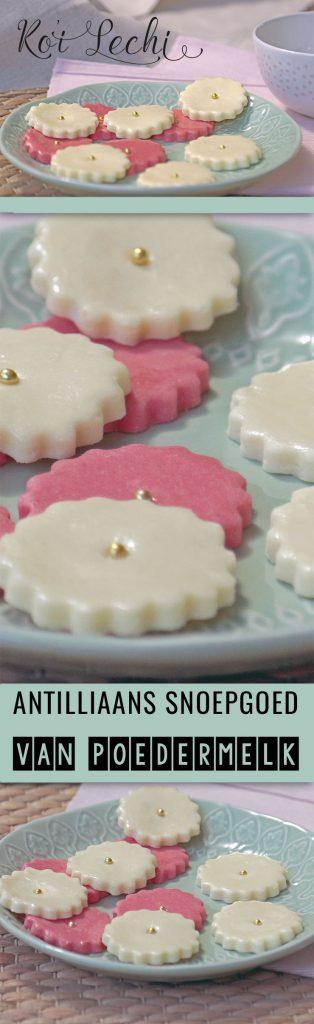 ko'i lechi kos di lechi koi antilliaans snoepgoed poedermelk recept