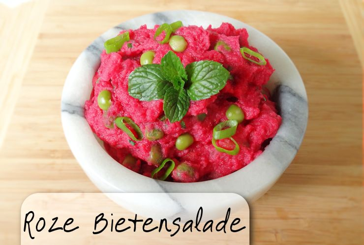 antilliaanse roze salade salada di roibit rode bieten salade