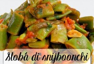 stoba di snijboonchi gestoofde snijbonen op Antilliaanse wijze Antilliaans recept