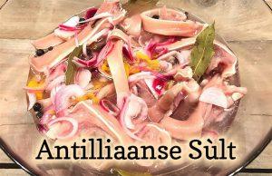 Antilliaanse sùlt sult zult varkensoortjes varkensoren pekele zuur recept jurino
