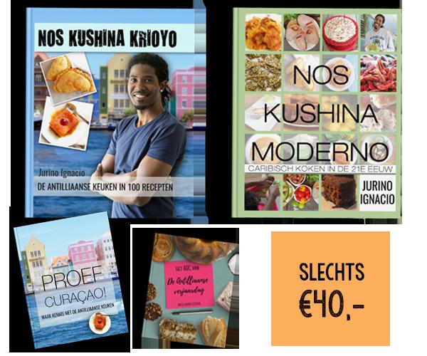 voordeelpakket nos kushina krioyo antilliaanse kookboeken jurino ignacio