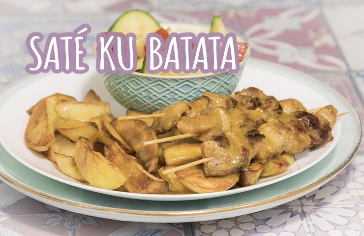 Recepten Antilliaanse Keuken : Sate ku batata antilliaanse saté aardappelen en saus het