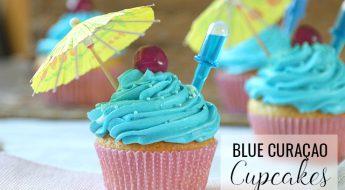 Blue Curaçao infused cupcakes recept antilliaans jurino