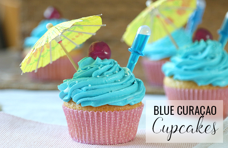 Blue Curaçao infused cupcakes recept antilliaans jurino