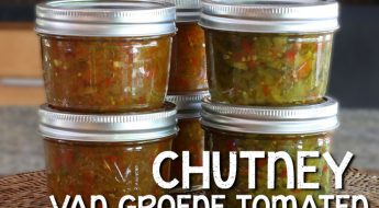 chutney van groene tomaten tomatenchutney antilliaans eten jurino recept