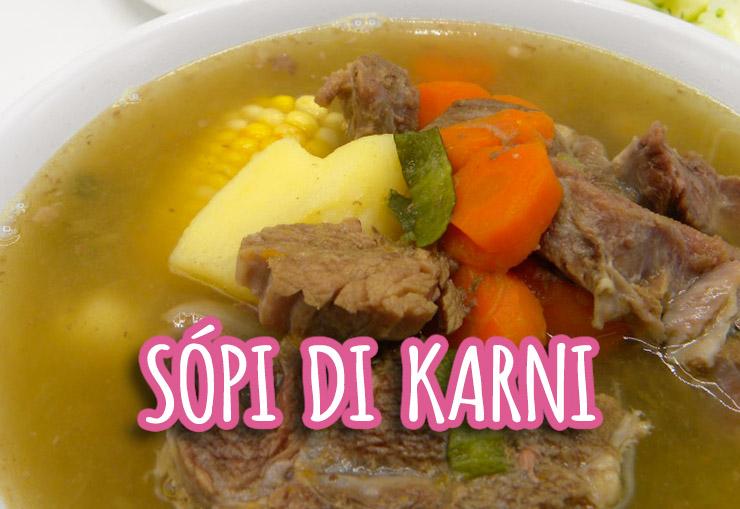 Speciaal Antilliaanse Keuken : Sòpi di karni traditionele antilliaanse soep met rundvlees recept