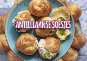 Antilliaanse soesjes recept tonijn tuna kip galiña galinja profiteroles jurino krioyo
