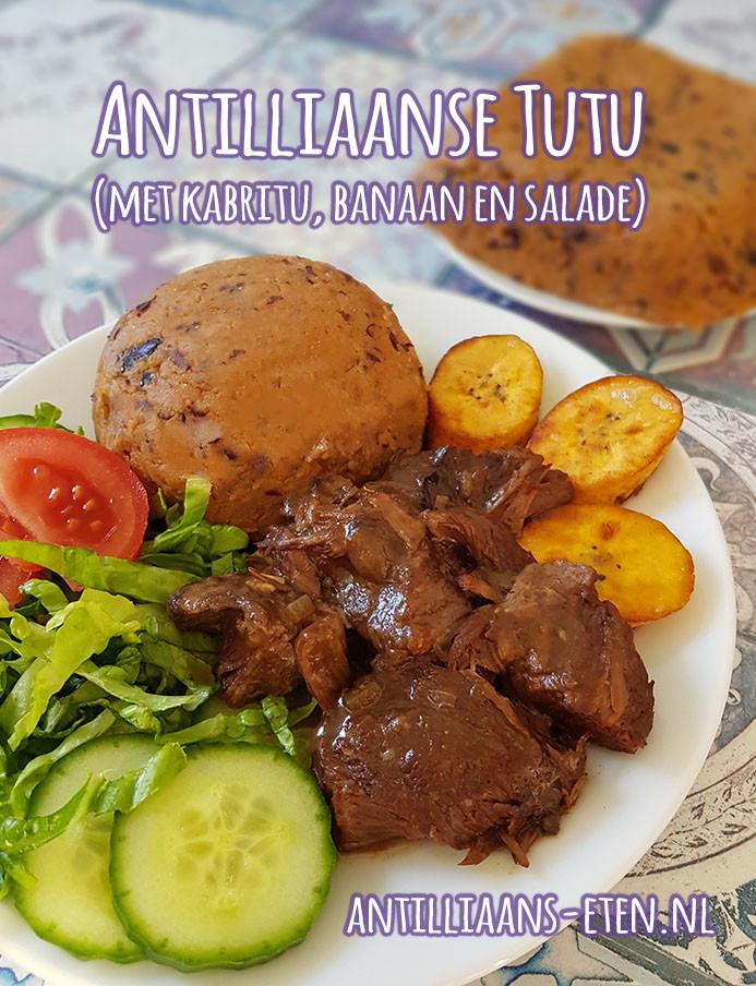 Antilliaanse tutu recept funchi black eyed peas tutú maken antilliaans recept jurino