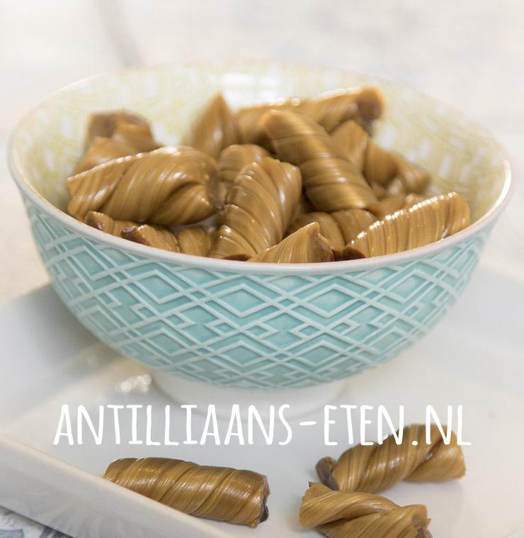 kakina kakiña kakinja kokkienen zeeuwse babbelaars toffee taffy antilliaans recept karamel caramel jurino