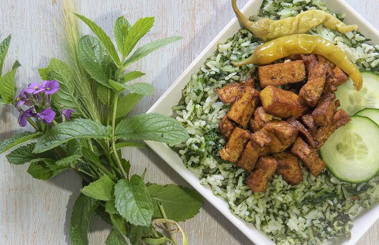 Vegan veganistisch Antilliaans recept voor tofu, pittig gekruid