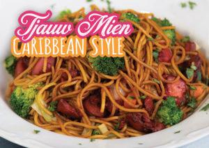 tjauw mien surinaams antilliaans recept caribbean style chow mein