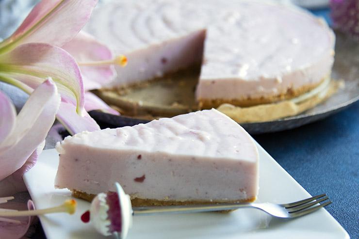 no bakje yoghurttaart kwarktaart aardbeientaart recept