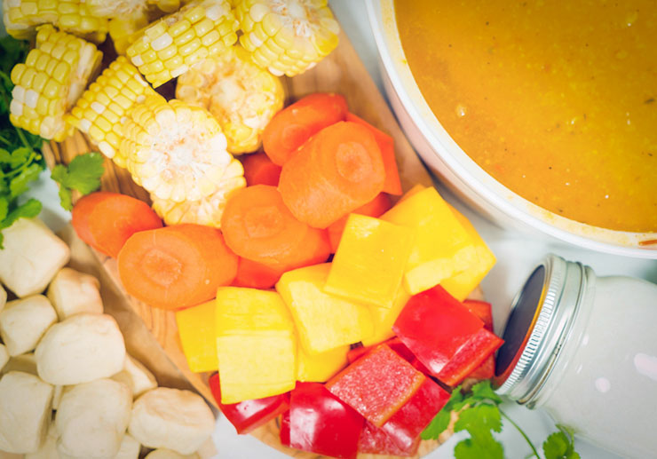 maïssoep uit Trinidad vegan recept antilliaans eten jurino